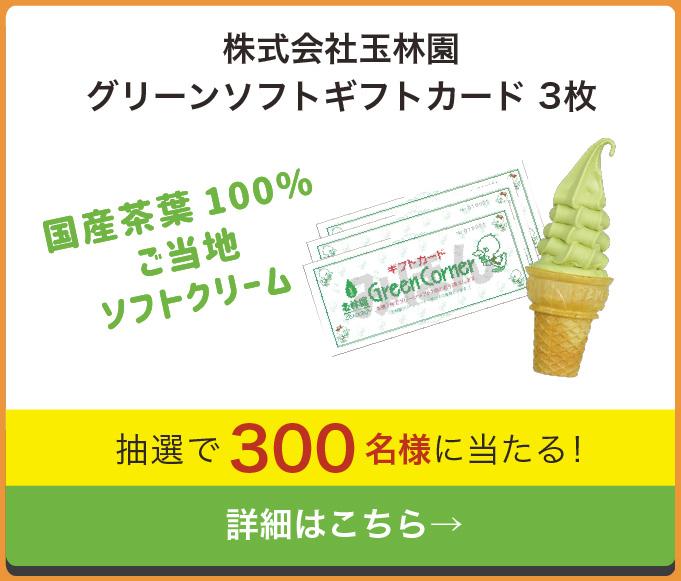 和歌山レシートキャンペーン 株式会社王林園 グリーンソフトギフトカード 3枚